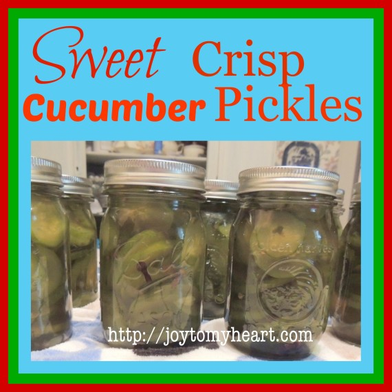 Sweet Crisp Cucumber Pickles