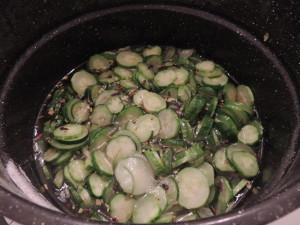 cucumbers in brine
