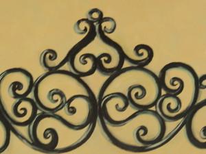 Italian scroll closeup
