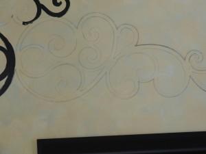 Italian scroll traced