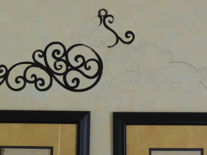 Italian scroll traced and paint