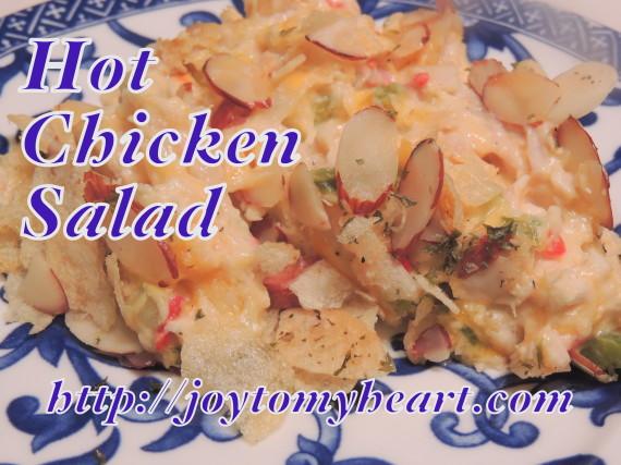 Hot chicken salad served