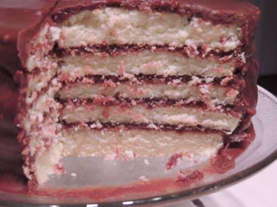 chocolate cake close
