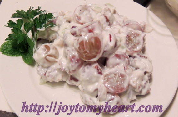 grape salad plate