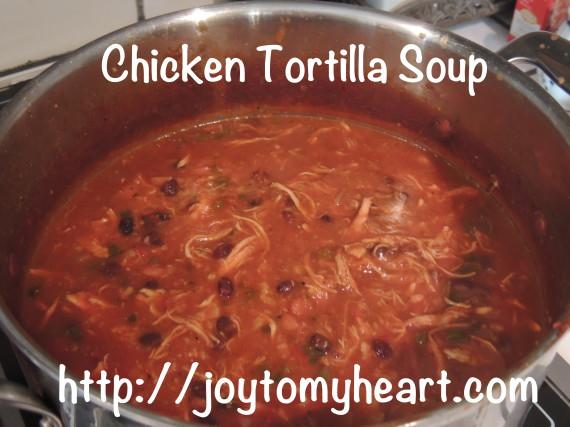 chicken tortilla soup pot