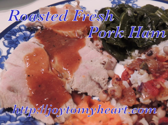 fresh ham plate