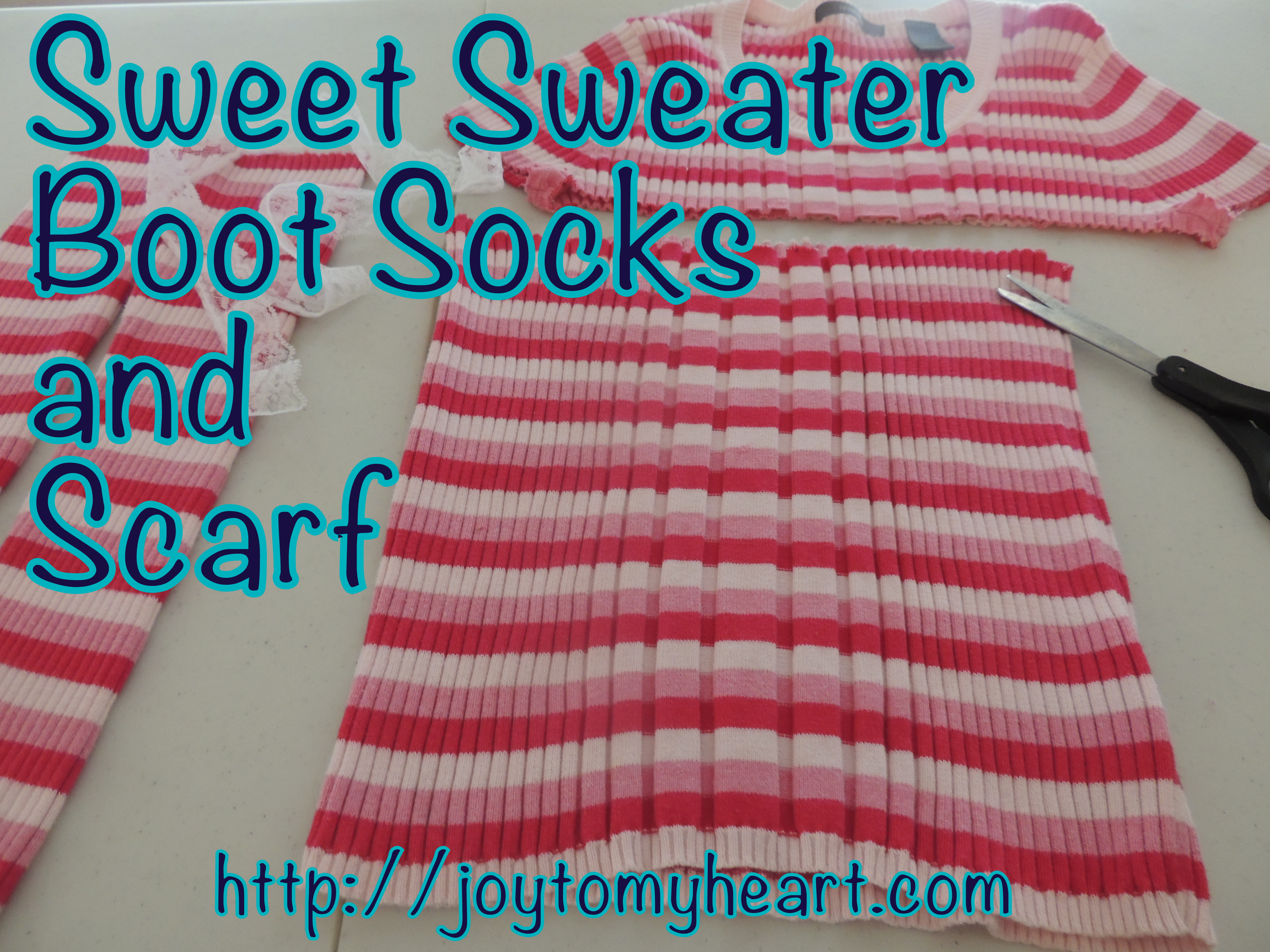 sweet sweater boot socks and scarf