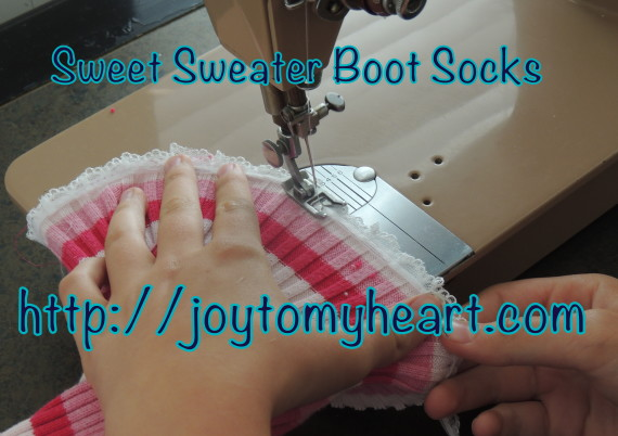 sweet sweater boot socks striped