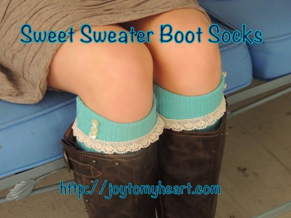 sweet sweater socks tourqoise