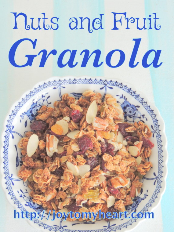 nuts and fruit granola