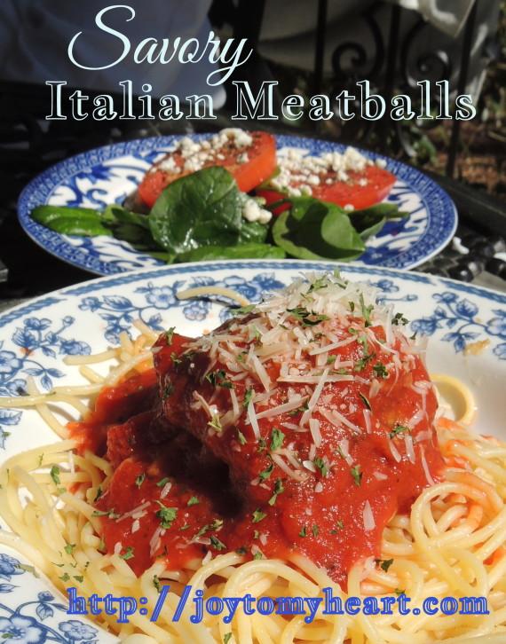 savory italian meatballs