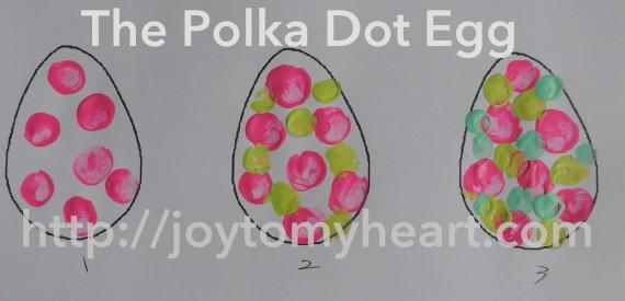 Egg polka dot