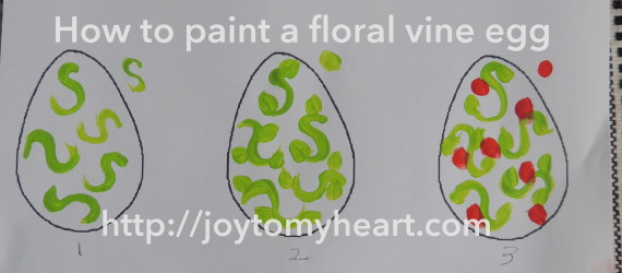 egg floral vine