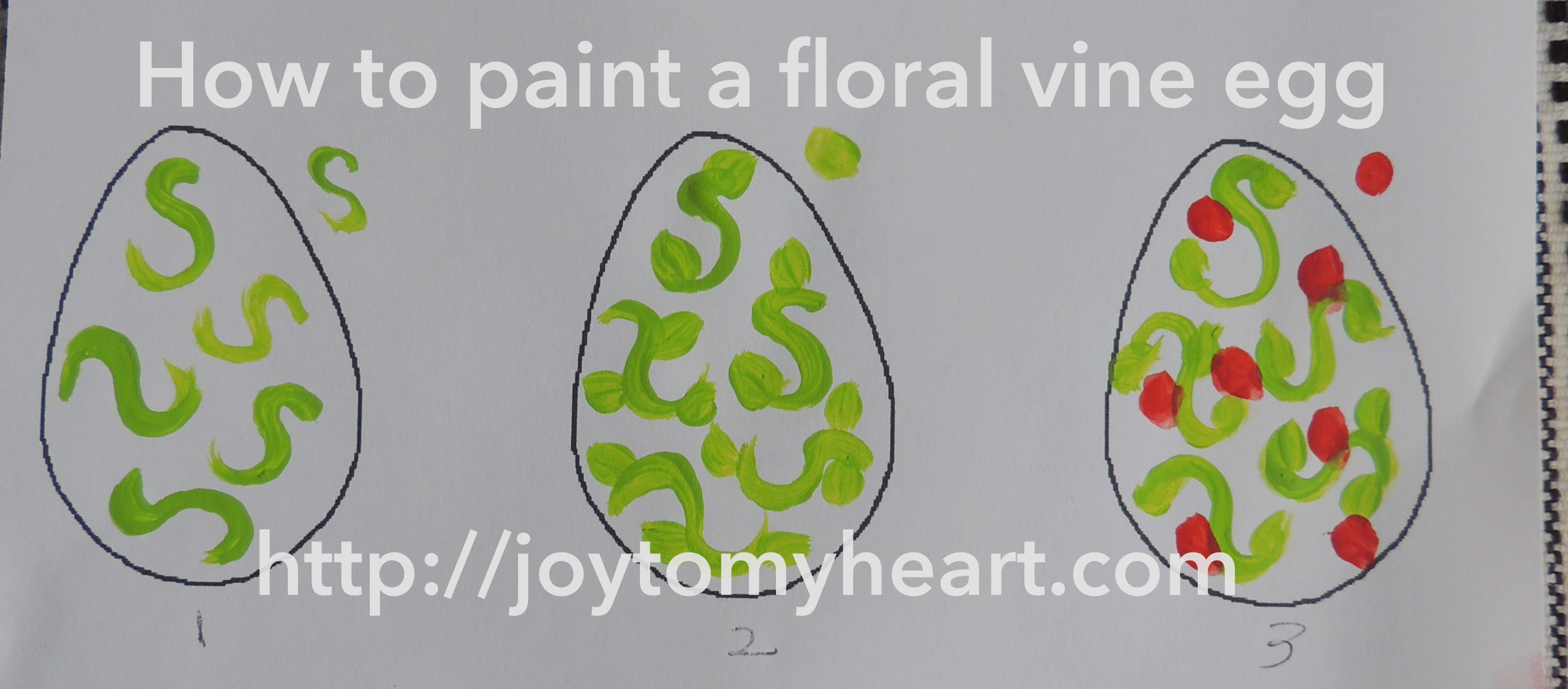 6 Simple Hand Painted Easter Egg Designs