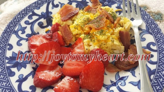 strawberries and eggs