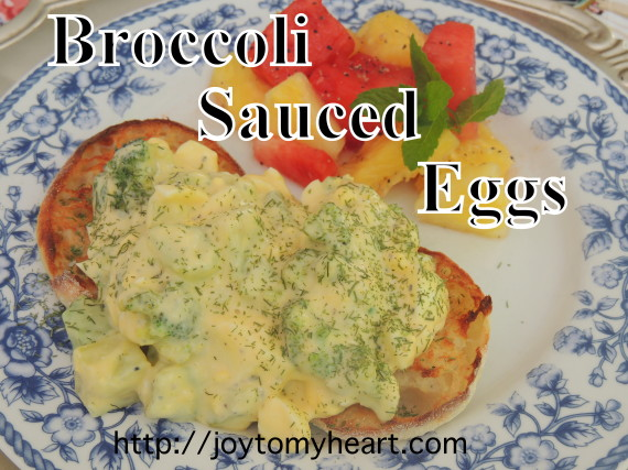 Broccoli Sauce Eggs plate
