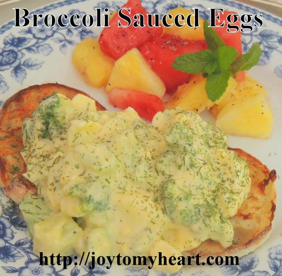 Broccoli Sauced Eggs