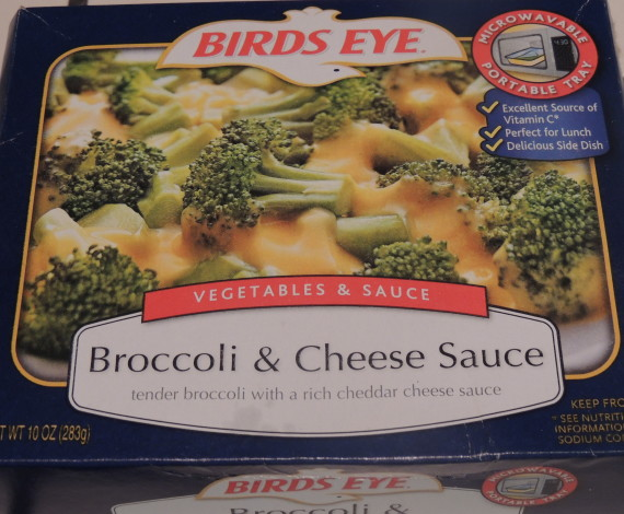 broccoli sauced eggs box
