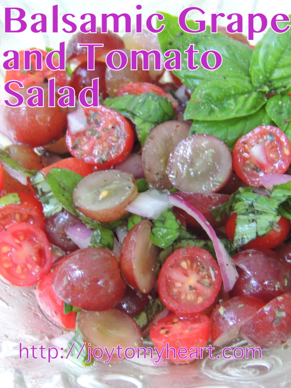 BALSAMIC GRAPE AMD TOMATO SALAD