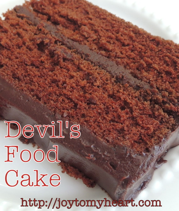 devils food cake sliceclose
