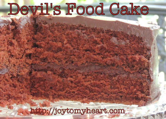 devils food cake sliced