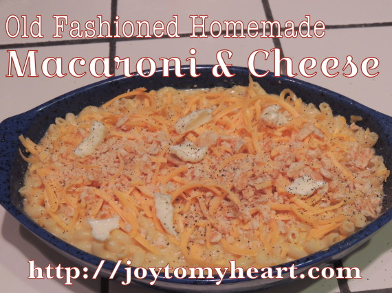 old fachioned home made macaroni amd cheese