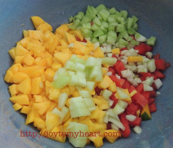watermellon Gazpacho chopped