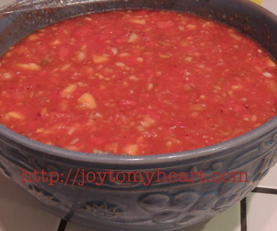 watermelon gazpacho mixed