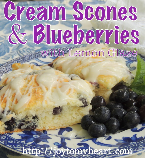 Cream scones and blueberriesglz