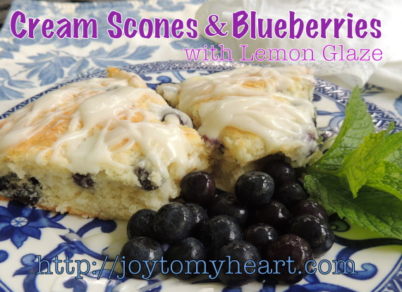 cram scones and blueberries 8