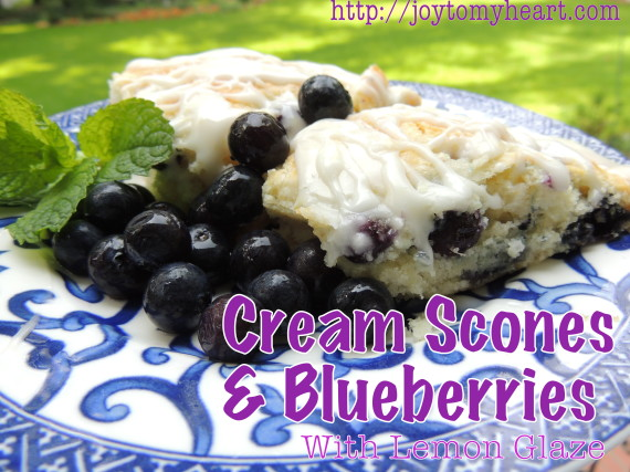 cream scones and blueberries6
