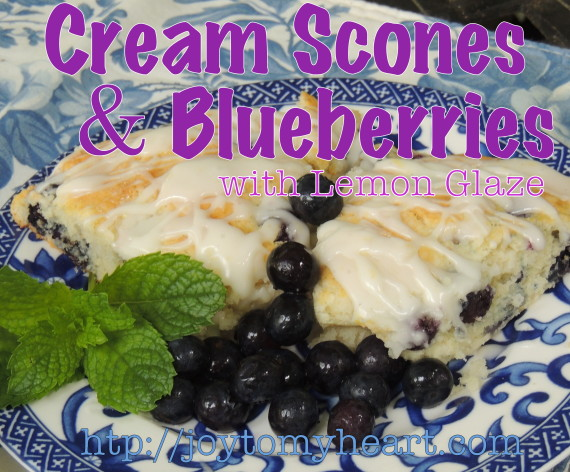 cream scones and blueberries7