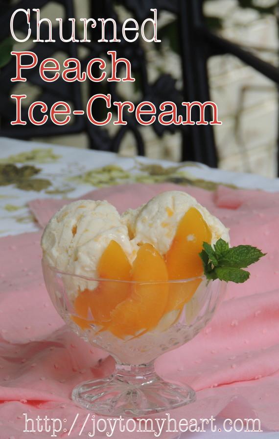 Churned Peach Ice cream4