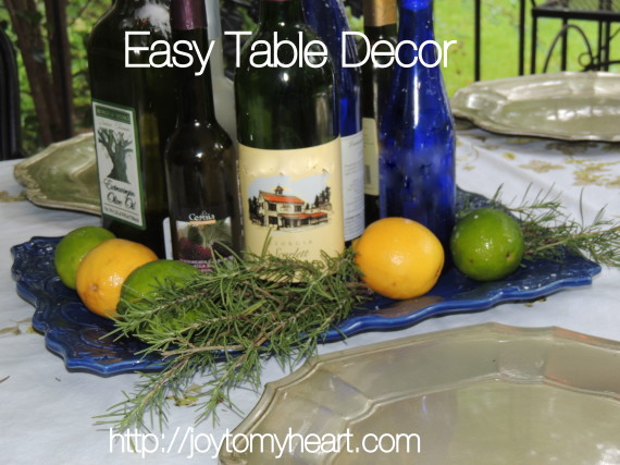 Easy table ddecor