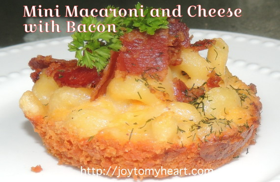 Mini Macaroni and Cheese with Bacon
