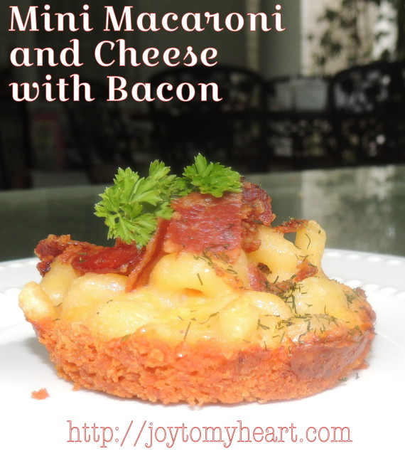 mini macaroni and cheese with bacon1