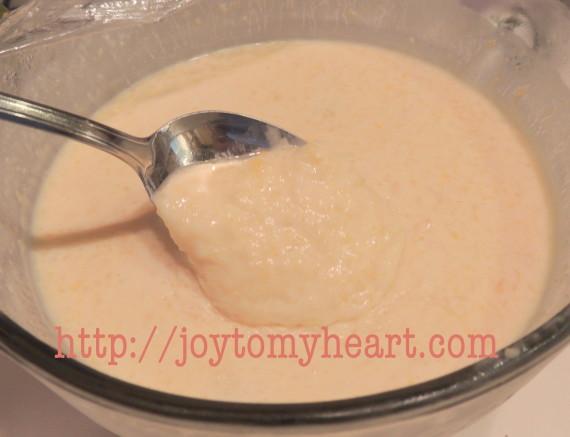 peach icecreaam custard