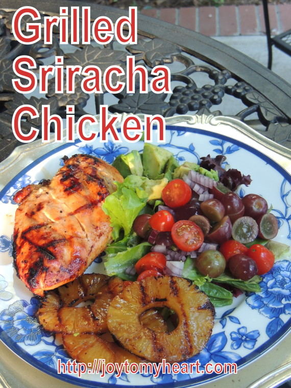 grilled sriracha chicken