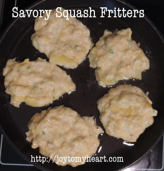 squash fritter batter