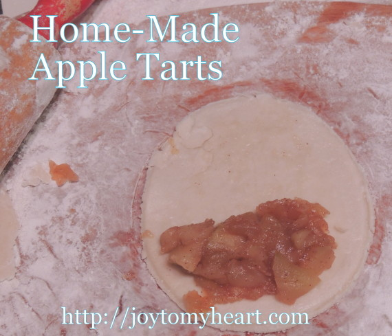 homemade apple tarts filling