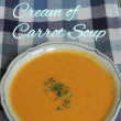 savory cream of carrot soup1