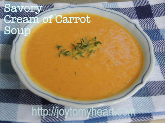 savory cream of carrot soup2