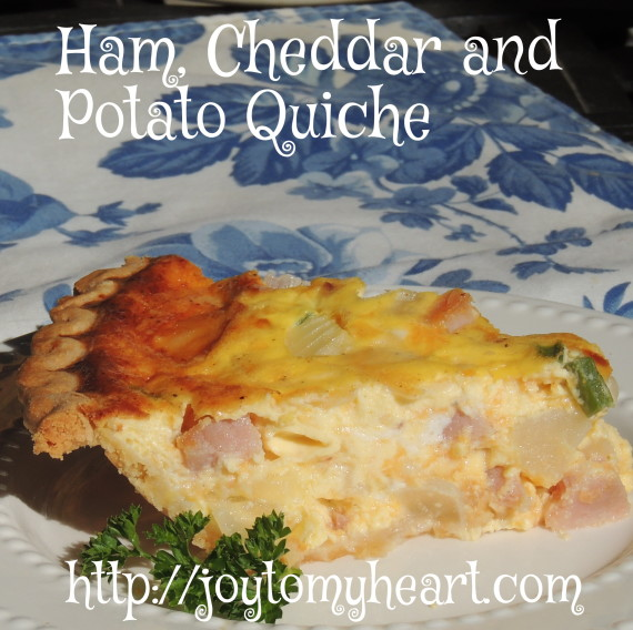 Ham Cheddar and potato quiche1