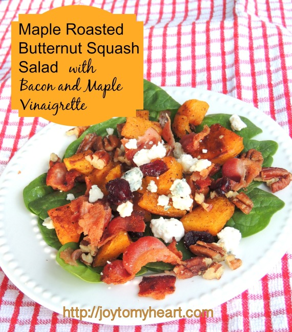 Maple Roasted Butternut Squash Salad