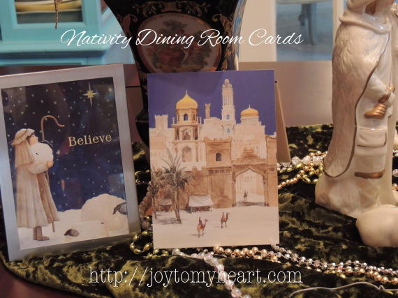 nativity dining room cards