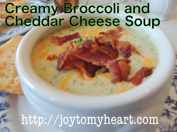 Creamy Broccoli and cheddar Cheese Soup