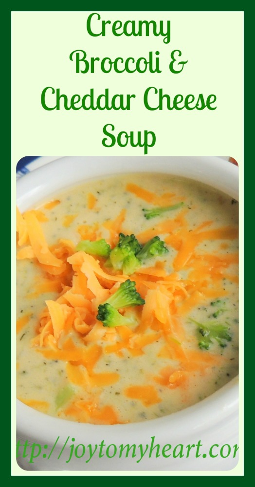 Creamy broccoli and cheddar cheese soup A1