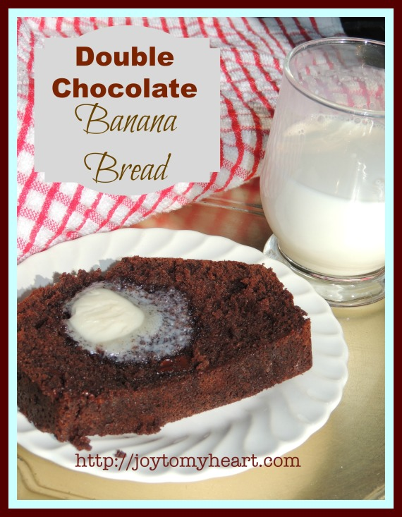 double chocolate banana bread slice poster