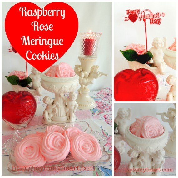 Raspberry rose meringue cookies1