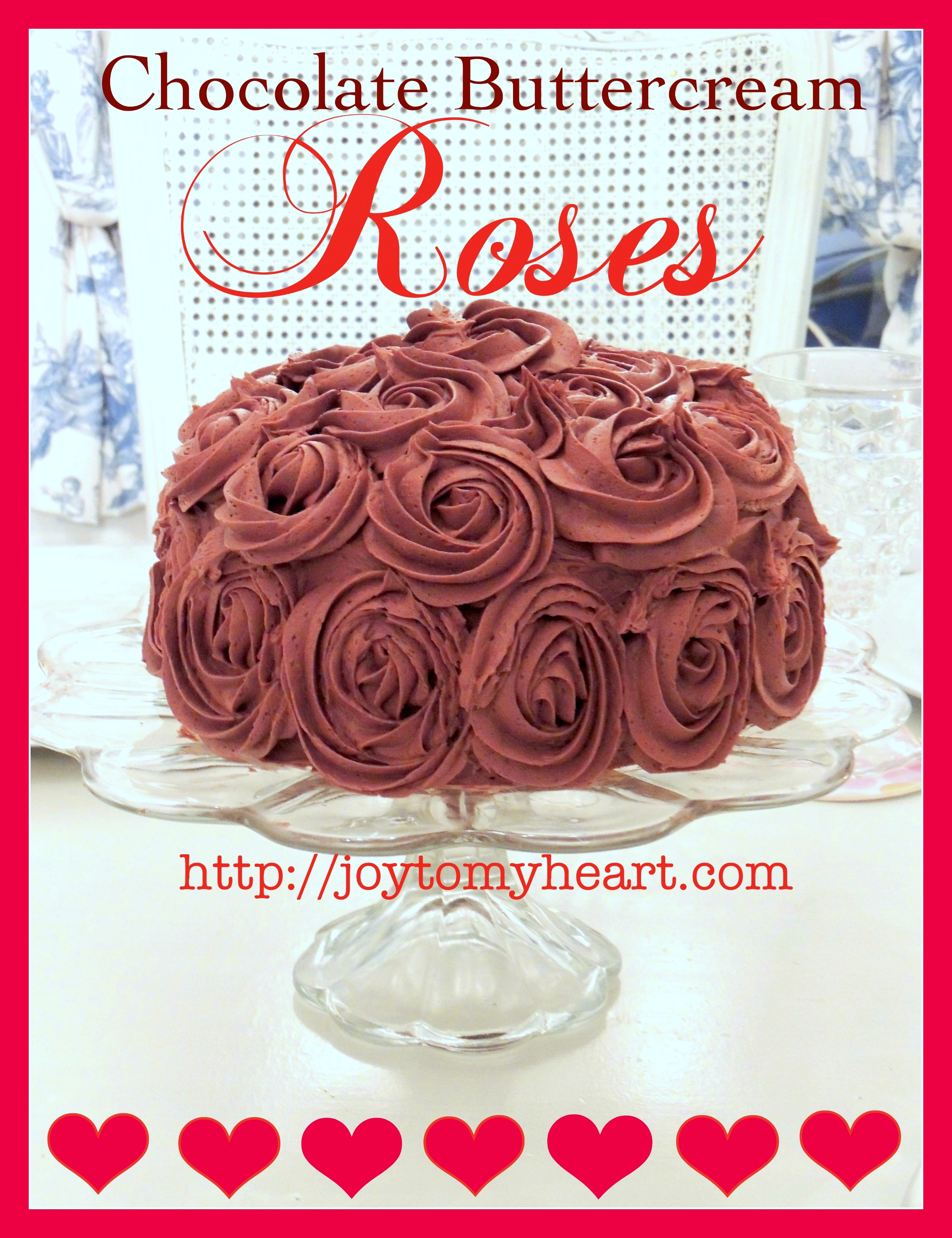 chocolate buttercream roses
